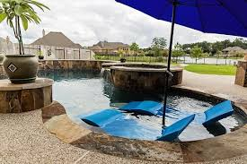 inground pools with waterfalls and hot tubs. Custom Inground Pool Built In The Woodlands, TX Pools With Waterfalls And Hot Tubs