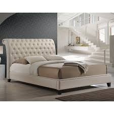 white upholstered beds. Amazon.com: Baxton Studio Jazmin Tufted Modern Bed With Upholstered Headboard, King, Light Beige: Kitchen \u0026 Dining White Beds