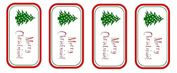 Christmas Tag Template Merry Christmas Sticker Template Merry Printable Tags Templates For