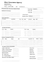 auto quote from auto insurance forms insuranc