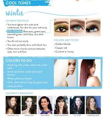 Skin Color Makeup Chart Tresses Color Chart Guide To The Best Color For Your