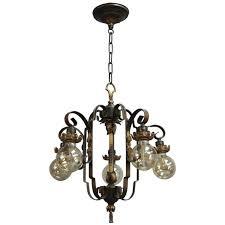 spanish revival lighting. Antique Spanish Revival Downlight Chandelier With Acanthus Motif Lighting L