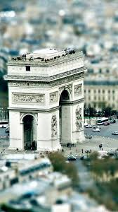 paris arc de triumph tilt shift iphone