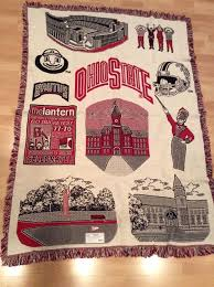 Ohio State University Throw Blanket
