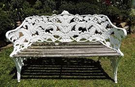 cast iron garden bench antique