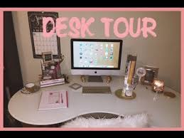 2015 DESK TOUR - Cute Office Accessories  YouTube