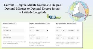 Convert Degree Minute Seconds To Degree Decimal Minutes To