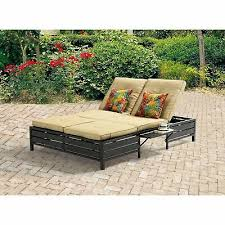 mainstays outdoor double chaise lounge