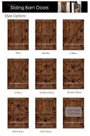 rustic sliding barn door custom made to fit by slidingbarndoor more