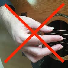 guitar fingerpicking technique incorrect hand position