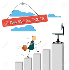 Exponential Growth Chart Illustration Of A Businessman Cartoon Character Running Up An