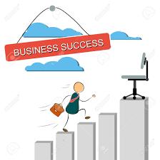 Illustration Of A Businessman Cartoon Character Running Up An