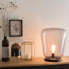 Lamp Van Zwart Metaal En Rookglas Verlichting Pinterest