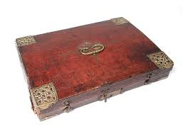 view full size previous writing case of travel box embossed leather