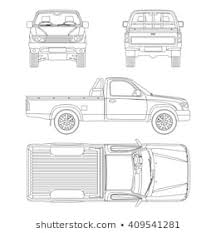 Pickup Truck Line Drawing Images, Stock Photos & Vectors | Shutterstock