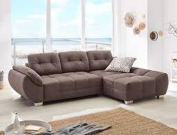 Wohnlandschaft Ruben 288x184 Cm Microfaser Braun Schlafsofa Couch