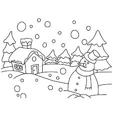 Leuk Voor Kids Een Sneeuwpop In Een Besneeuwd Winterlandschap