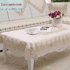 european rural water soluble tablecloth modern embroidered tea table cloth high grade simple but elegant table cloth round plastic tablecloths picnic