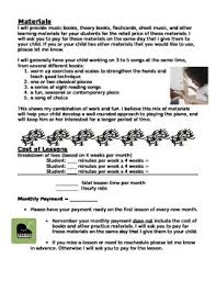Piano Lesson Contract Template By Laura Varga | Teachers Pay Teachers