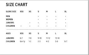 Kombi Gloves Sizing Chart Kombi Womens Session Glove