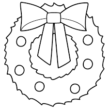 plain christmas wreath coloring page. Plain Christmas Christmas Wreath  Coloring Page  Large Wreath Merry Christmas  Crafts To Plain Pinterest