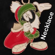 details about necklace marvin the martian warner bros looney tunes xmas santa wb 4000