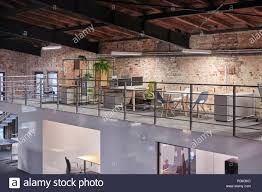 Modern Industrial Office Interior Design Interior Of A Modern Industrial Style Loft Office Stock