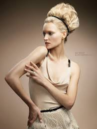 Hairband Hairstyle blonde updo with a hairband 2046 by wearticles.com
