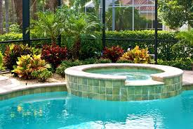 Small Backyard Landscape Designs Extraordinary Pool Cage Landscaping Inside And Out R And R Sprinkler
