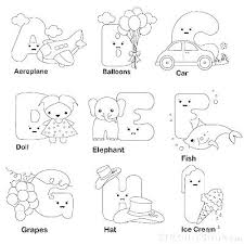 Alphabet Coloring Pages Pdf Alphabet Coloring Pages A Z Animal