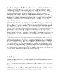 sample sociology essay summary about c wright mills and conflict per  2