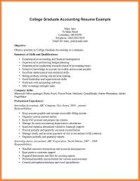 Resume Sample For Fresh Graduate Accounting Asptur Com