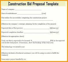 Free Construction Bid Proposal Template Download Construction Proposal Template Construction Proposal Template Free