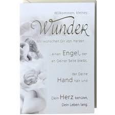 Babykarte Sw Willkommen Wunder Mit Spruch Engel