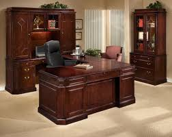 executive desk wooden classic. classic brown varnished mahogany wood executive desk which combined with black leather upholstered swivel chair wooden s