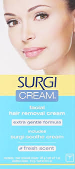 amazon surgi cream hair remover extra gentle formula for face 1 ounce s pack of 3 beauty