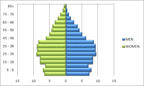 Create Pyramid Chart Population Pyramid Excel Exercise