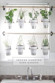 DIY Indoor Hanging Herb Garden // Learn how to make an easy,  budget-friendly hanging herb garden for your window. It will make your  house prettier