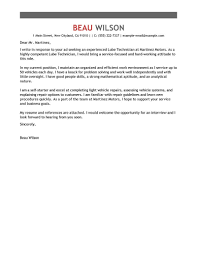Lube Technician Cover Letter Examples Livecareer