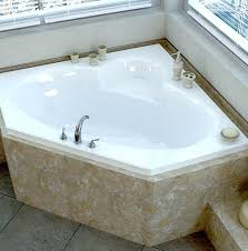 dropin soaking tubs sublime x corner drop in soaking bathtub with center drain 60 x 42