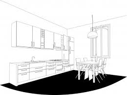 interior line art drawing vector