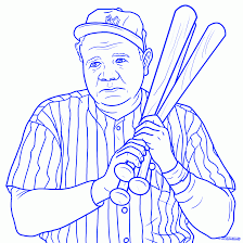 Small Picture How To Draw Babe Ruth Step by Step Sports Pop Culture FREE
