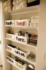 cosmetics storage ideas shelving labels