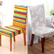 stretch dining room chair covers seat cover decor chair cover stripes pattern stretch dining room chair