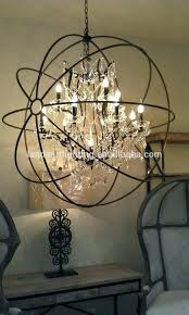 black wrought iron and crystal chandelier creative of small orb liveable remodel ideas 0