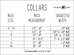 Collar Size Chart Sizing Charts Peachy Keen Pets