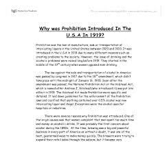why was prohibition introduced in the u s a in gcse  document image preview