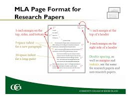 mla research paper format outline