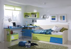 ... Great Bedroom Interior Decoration Using Kids Trundle Bed Ikea :  Outstanding Grey Furry Rug And Blue ...