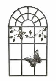 Deko Fenster Nostalgie Fenster Metall Rahmen Schmetterling Antik